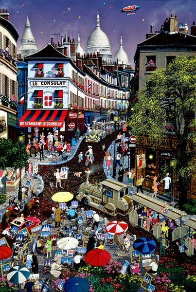 Alexander Chen, A day in Montmartre