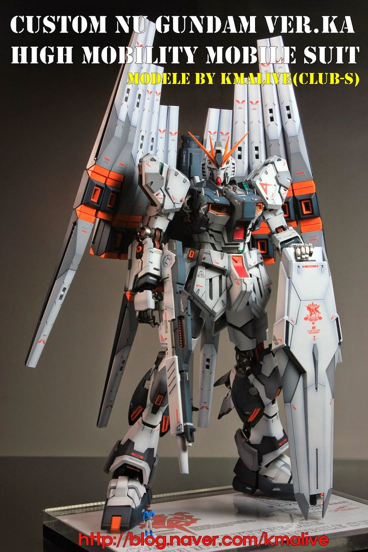 GUNDAM GUY: MG 1/100 Nu Gundam Ver. Ka - Customized Build w/ LEDs