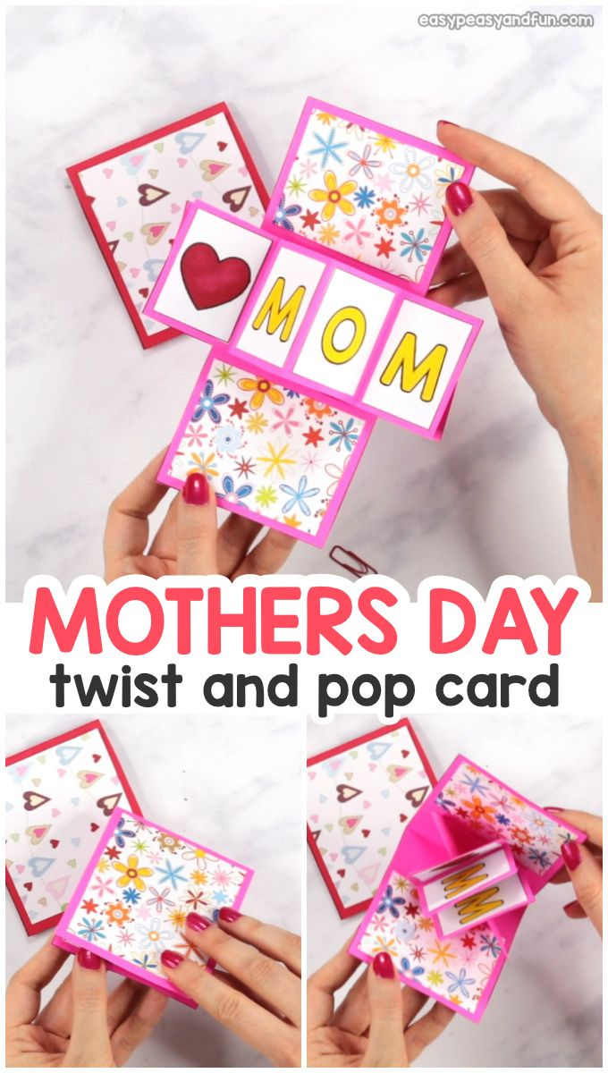Twist And Pop Mother S Day Card With Images Pop Up Card