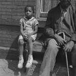Grandfather and grandchild on Seaton Road, Washington, DC, 1942