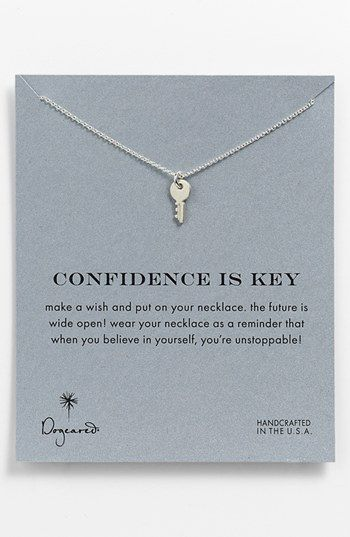 Dogeared 'Reminder - Confidence Is Key' Boxed Pendant Necklace available at #Nordstrom