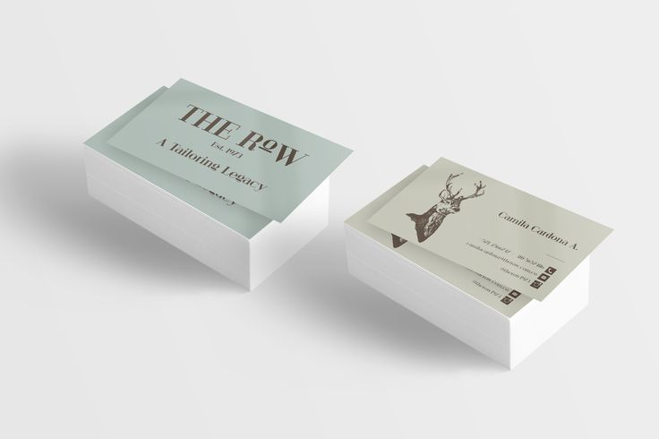The Row - Business Cards