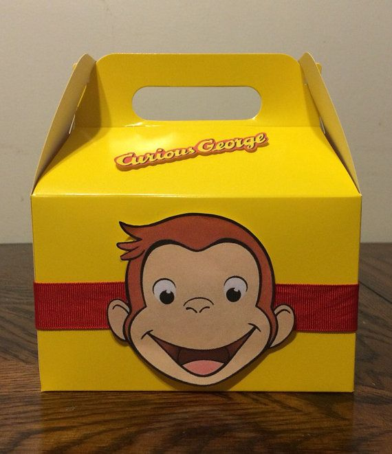 Curious George party favor boxes by MarisManyThings on Etsy