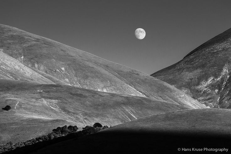 Moon on Piano Grande, Monte Sibilini NP, Italy, by Hans Kruse