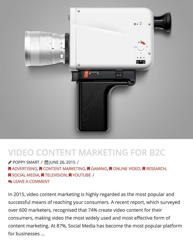 Video Content Marketing for B2C - http://www.dicelondon.com/video-content-marketing-for-b2c/