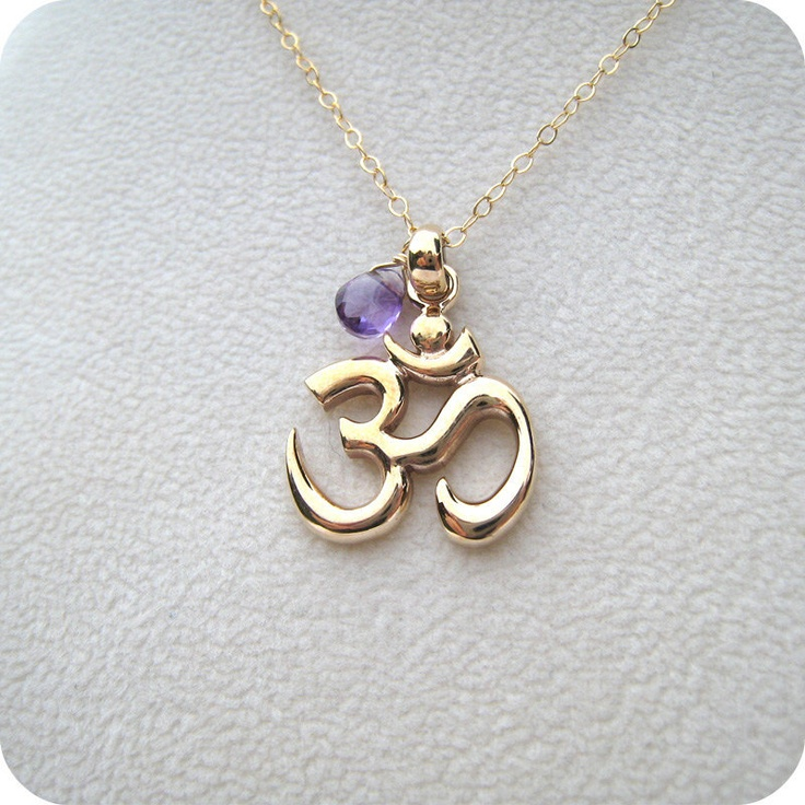 Really like ohm signs. By Gilded Moon Jewelry