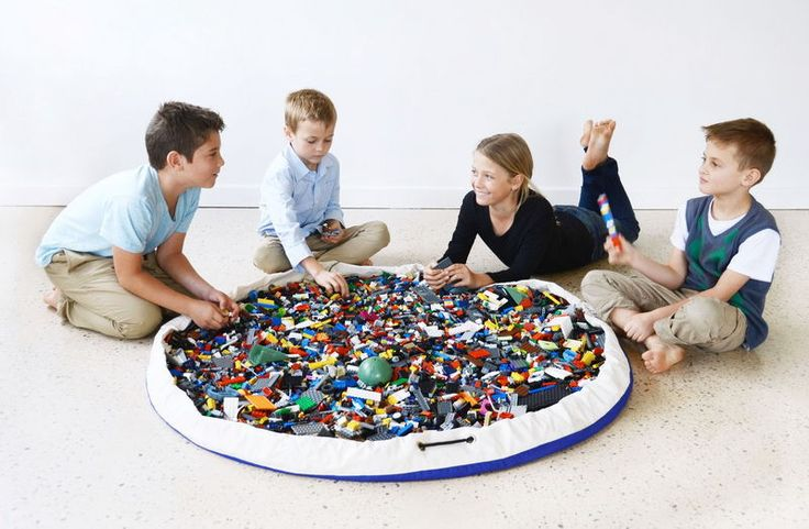 Play Pouch | lego bag, toy storage & play mat in one