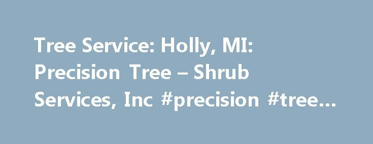 Tree Service: Holly, MI: Precision Tree – Shrub Services, Inc #precision #tree #services http://zambia.nef2.com/tree-service-holly-mi-precision-tree-shrub-services-inc-precision-tree-services/  # Beautify Your Yard With Precision Tree & Shrub Services 10 reasons why we're your go-to tree company in the Holly, MI area Precision Tree & Shrub Services, Inc stands above other tree businesses in Oakland, Genesee and Livingston counties for the following reasons: We specialize in hardwood tree…