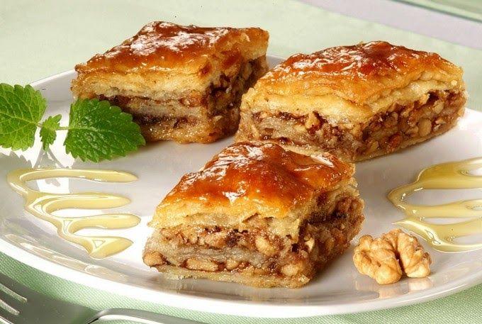 Кулинарный блог!Лучшие рецепты.: Пахлава из слоеного теста