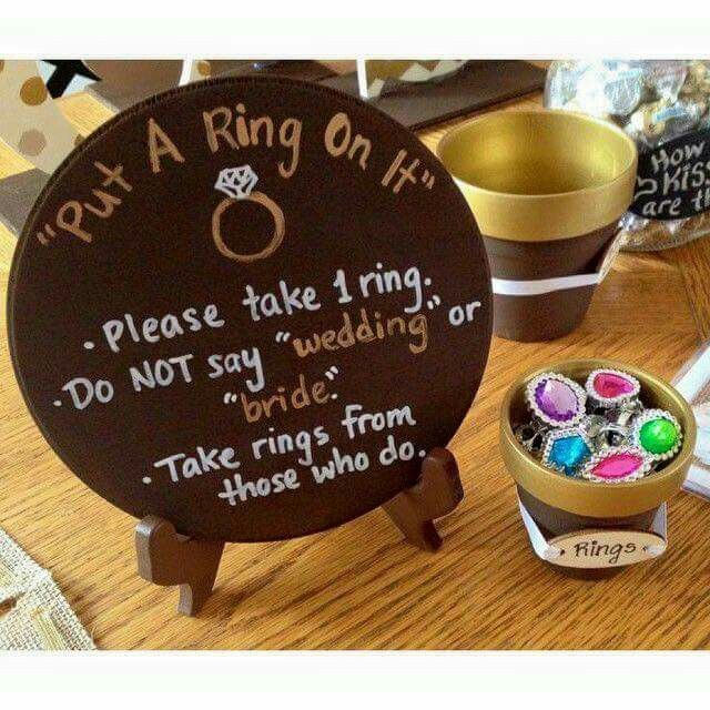 Love this game- we played it at a friend's baby shower with pink and blue clothes pins! Cute wedding version!!
