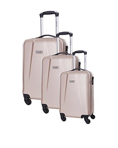 TRAVEL ONE 3er Set Hartschalen Trolley Pandara (beige)
