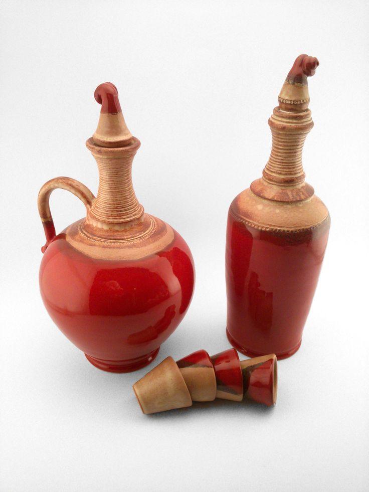 Woman and Man Pálinka Set - Ildikó Károlyi #ceramics #pottery #keramiart