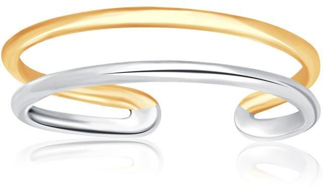 Ice 14K Two-Tone Gold Toe Ring with a Fancy Open Wire Style