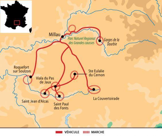 Itineraire Du Voyage Randonnees Sur Le Larzac Autrement Larzac