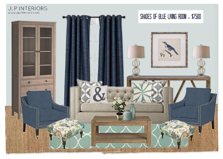 Mood board monday shades of blue living room for Living room 4 pics 1 word