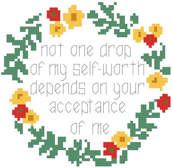 My Self-Worth Cross Stitch Pattern Instant by RagingStitches