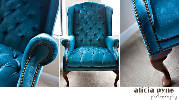 Mint green velvet tufted wingback chair by thefeelingofhome - 16 Best Chairs Ideas Images On Pinterest