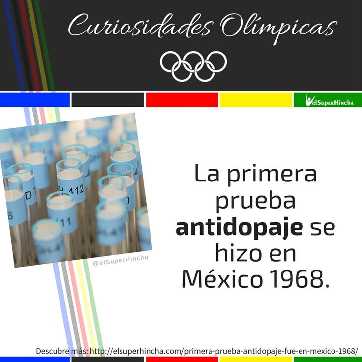 El dopaje en el #Deporte existe desde siempre. Descubre porqué se empezó a tomar en serio a partir de 1960... #CuriosidadesOlimpicas #JuegosOlimpicos #Rio2016