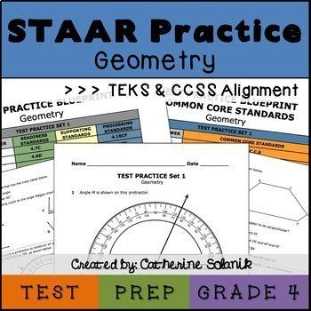 4th Grade Math Test Prep - Geometry STAAR Practice - TEKS Aligned