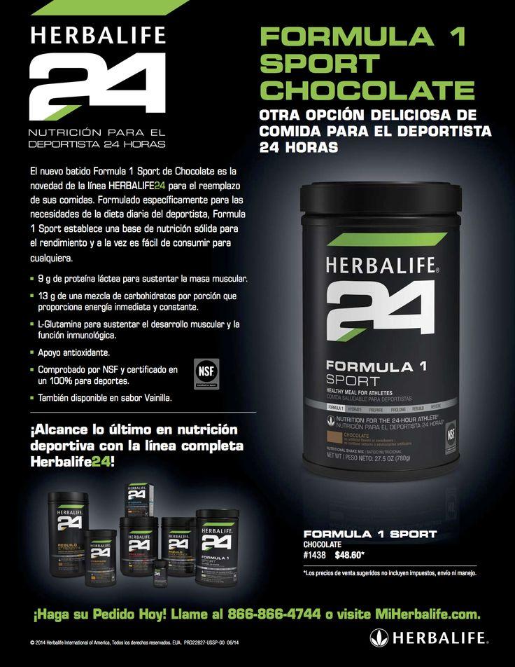 nuevo sabor de batido formula 1 sport  herbalife24 para el
