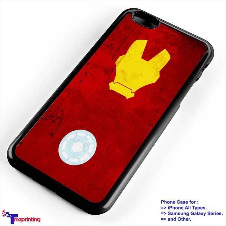 iron man face cartoon - Personalized iPhone 7 Case, iPhone 6/6S Plus, 5 5S SE, 7S Plus, Samsung Galaxy S5 S6 S7 S8 Case, and Other