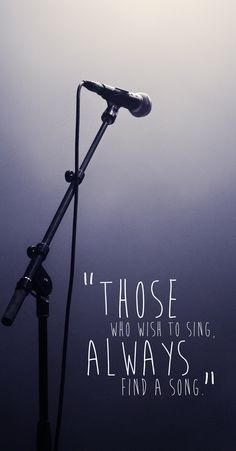 Those who love to sing