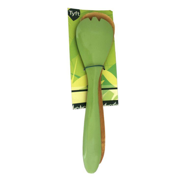 Pegador de Salada Verde Bambu 2 Peças 28cm Tyft