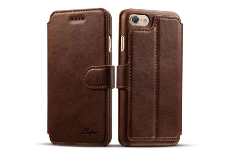 best Fashion iphone 7 Cases leather wallet brown