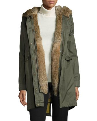 Literary+Walk+Fur-Lined+Hooded+Parka++by+Woolrich+at+Neiman+Marcus.