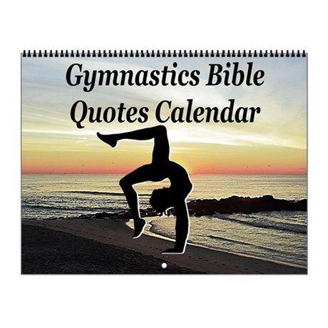 Gymnast Scripture Wall Calendar Inspire your awesome Gymnast to go for gold with our original and motivational Gymnastics Calendars. http://www.cafepress.com/sportsstar/10135150  #Gymnastics #Gymnast #WomensGymnastics #Gymnastgift #Lovegymnastics #Gymnastcalendar #Gymnasticscalendar