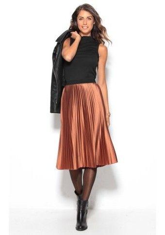 Polodlouhá plisovaná sukně #ModinoCZ