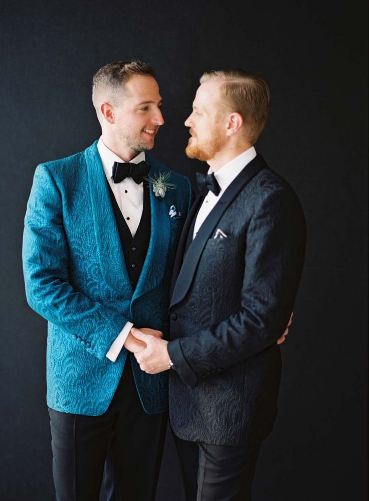 Gay wedding homosexual couple in suit stock illustration