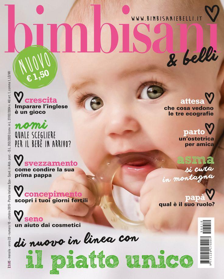 """In edicola dal 10 settembre 2015 il numero di ottobre con un mio articolo: """"svezzamento, come condire la sua prima pappa"""""""