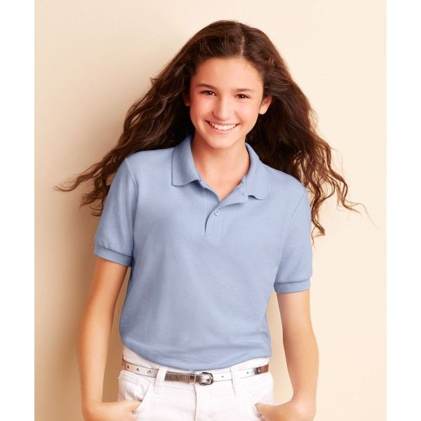Now children's also make own style with Gildan Youth DryBlend 65/35 Polo  DryBlend Youths 65 / 35 Pique Polo G72800B Dryblend Technology: Delivers Moisture-Wicking Properties Sideseamed Contoured Welt Collar & Cuffs Heat Transfer Label Clean Finished Placket With Reinforced Bottom.  Price: £4.99 Read here: http://goo.gl/UOFw0P
