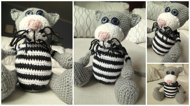 Crochet cat Fred