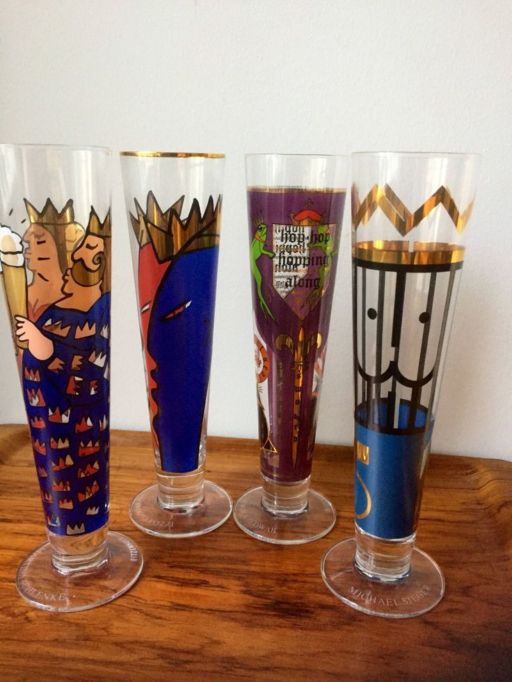 Set of 4/Ritzenhoff /beer/glasses/limited editions/German designers/pint/craft beer by WifinpoofVintage on Etsy