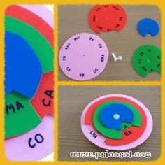 Olhem que ideia interessante!Você vai precisar:- 4 círculos de E.V.A. em tamanhos e cores diferentes;- 1 parafuso de união plástico (utilizei de uma pasta arquivo que não usava mais);- canetinha para retroprojetor (para evitar borrões).Procedimento:- Faça um pequeno corte nos…