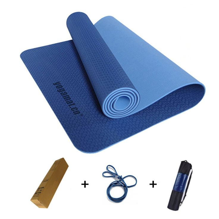 183x61x0.6cm None-Slip Yoga Mat TPE with Bag and Rope Double Layers Fitness Gym Exercise Mat Gymnastics Mats