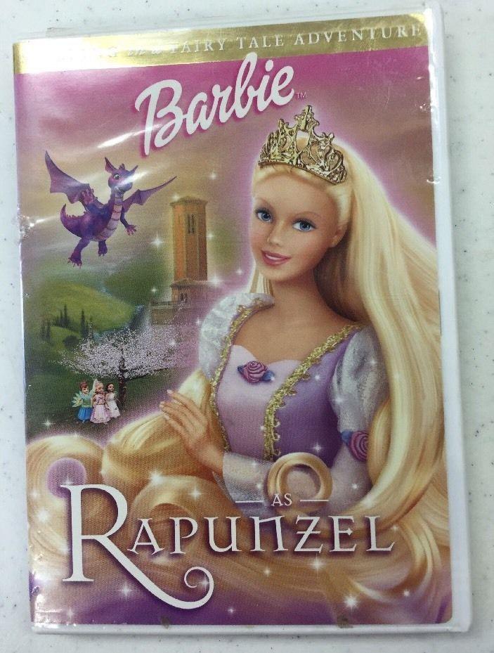 Barbie as Rapunzel DVD Kelly Sheridan Anjelica Huston CREE Summer Ian James   eBay