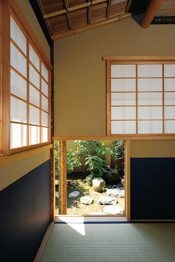 にじり口、掛込(かけこみ)天井、湊紙(みなとがみ)−伝統の小間