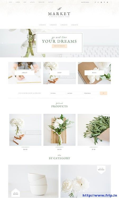 New Theme : Market Feminine Genesis WordPress Theme By Restored316  http://www.frip.in/market-feminine-wordpress-theme/