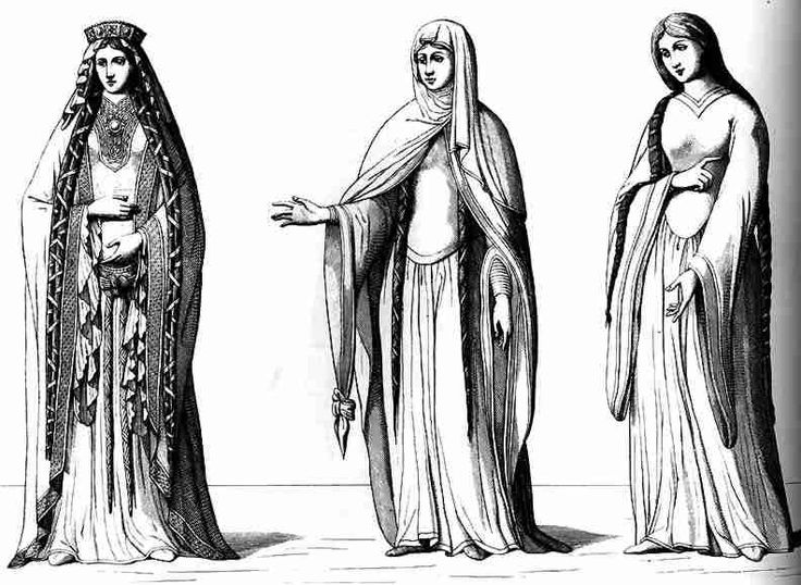 12th Century French Ladies Dress from Stibbert