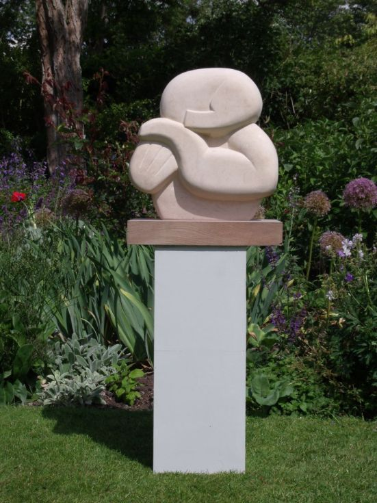 ARTFINDER: SLUMBER by Nicola Beattie - This piece is the final one in the semi-abstract 'peace' series of  restful figure sculptures carved in stone.  I made this piece from Ancaster Hardwhite sto...