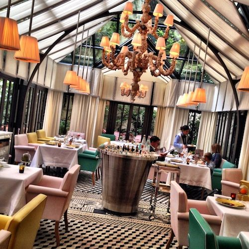 Il carpaccio is the only michelin star restaurants for Restaurant le jardin royal monceau