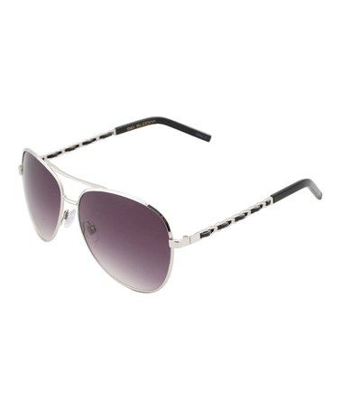 Love this Silver Chain Aviator Sunglasses by Big Buddha on #zulily! #zulilyfinds