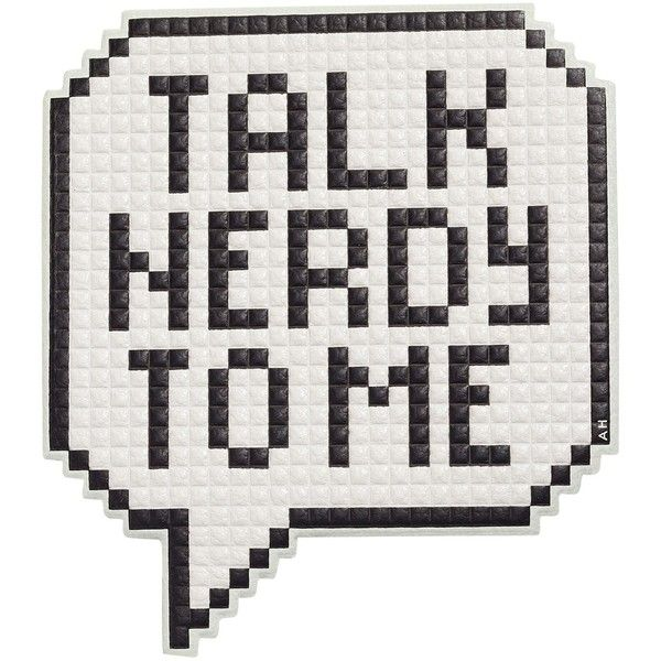 Talk Nerdy Oversized Sticker ($89) ❤ liked on Polyvore featuring bags, black white, womenbags, oversized bags, anya hindmarch, black and white bag and anya hindmarch bags