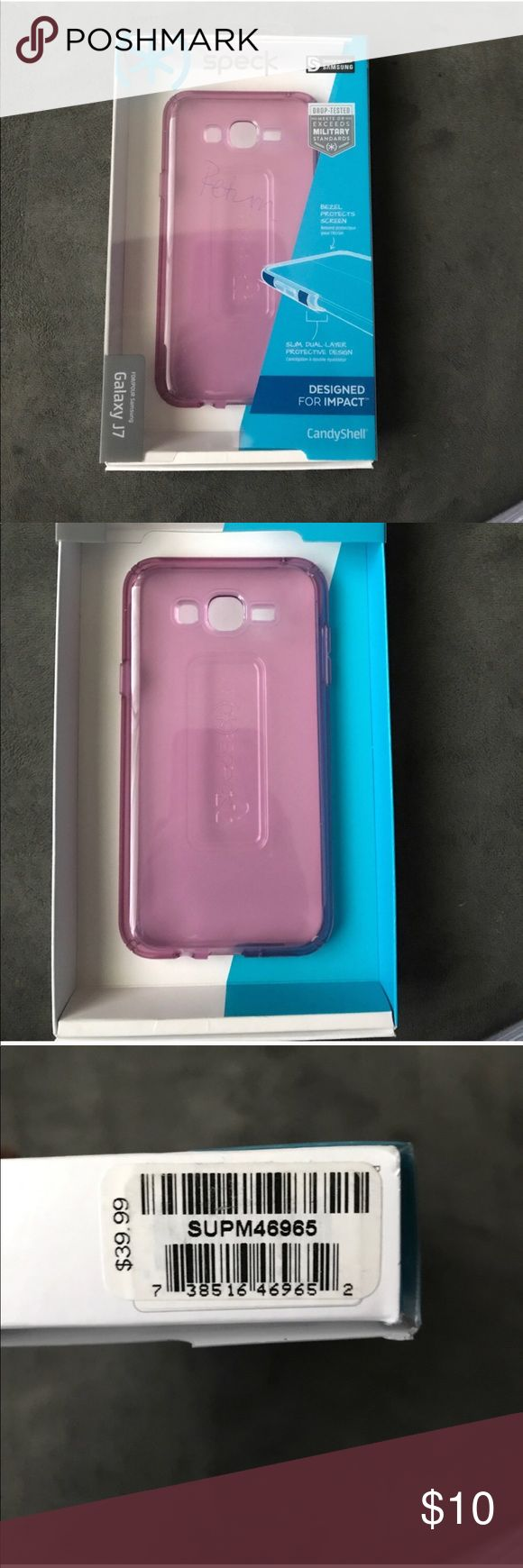 Samsung galaxy J7 case pink Brand new open box Samsung J7 case. Speck brand. Pink color. Great quality. Originally retails for $39.99 speck Accessories Phone Cases