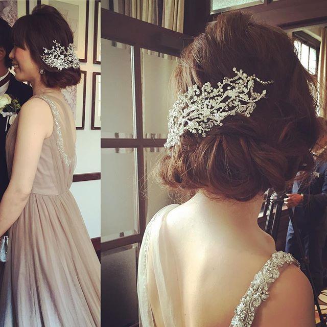 . ゆるゆるボブ( ^ω^ ) いっつも私のインスタを 見て下さっていた、ご新婦様♡ 担当させて頂けて ほんまに、嬉しかったです 台風吹っ飛びましたね〜\(^o^)/ . #hairmake #hairarrange #hair #hairset #hairstyle #wedding #party #photo #kyoto #thetreatdressing #fortunegardenkyoto #20150718 #結婚式 #花嫁 #プレ花嫁 #トリートドレッシング #フォーチュンガーデン京都 #うつぎマジック #ヘアセット #京都 #台風 #なんちゃってボブ #brids #bob