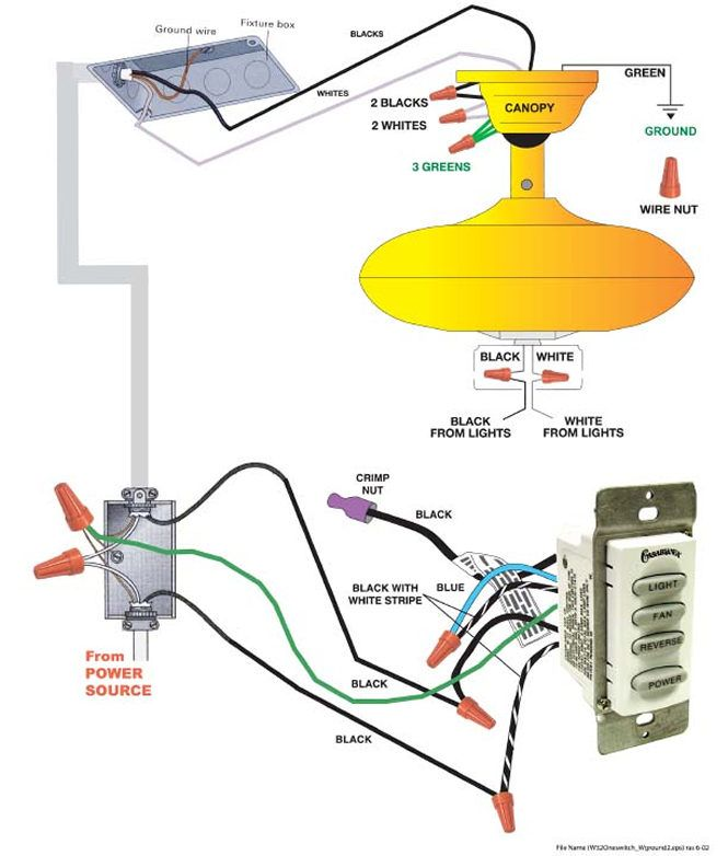 Ceiling Fan Wiring Diagram With Light from i.pinimg.com