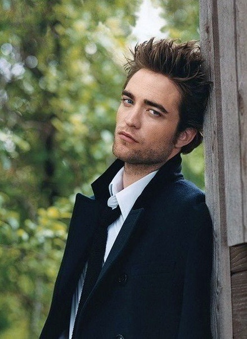 Robert Pattinson- Im sorry but there is just something about him !  His glare is sexy ! Love when his hair is all messy !